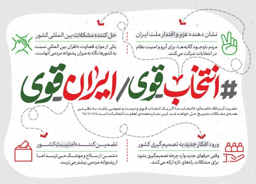 انتخاب قوی = ایران قوی